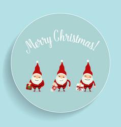 Christmas Greeting Card with Christmas Santa Claus vector image vector image