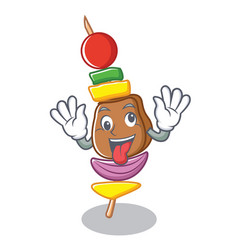 crazy barbecue character cartoon style vector image vector image