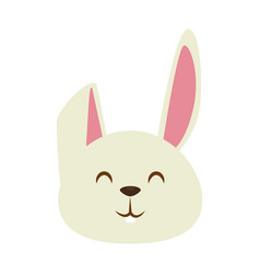 Cute little rabbit icon vector