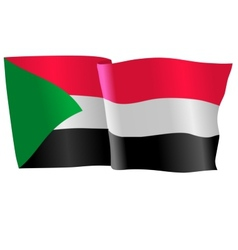 flag of Sudan vector image vector image