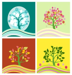 Four seasons tree - vector
