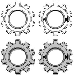 graphic metal mechanical gear set vector image vector image