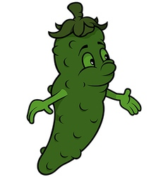 Green cucumber vector