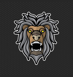 lion logo design template lion head icon vector image vector image