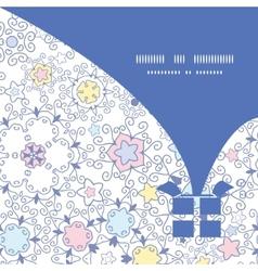Ornamental abstract swirls christmas gift box vector