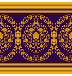 Ornate seamless in eastern style vector