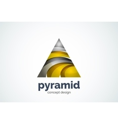 Pyramid logo template triangle cycle concept vector image vector image