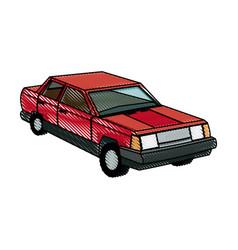 Red car sedan wheel auto vehicle image vector