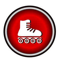 Roller skates sign icon on white background vector image