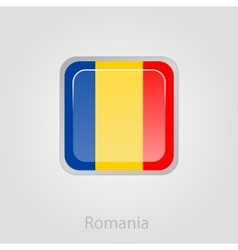 Romanian flag button vector