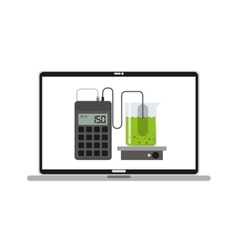 Scientific laboratory online concept vector