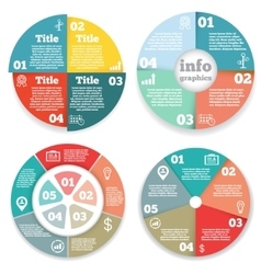 Set of business circle infographic diagram vector image vector image