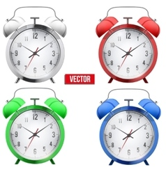 Traditional alarm clock vector image vector image