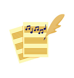 Writing music song tablature graphic vector