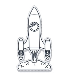 Rocket startup launcher isolated icon vector