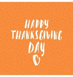 Happy thanksgiving day hand-lettering text vector