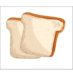 Fresh toast bread isolated cartoon vector