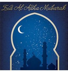 Eid Al Adha window vector image