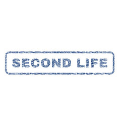 Second life textile stamp vector