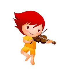 Close-up of girl holding violin vector