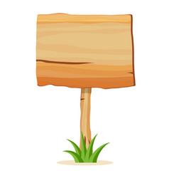 Wooden empty billboard icon vector