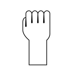 Hand human fist icon vector