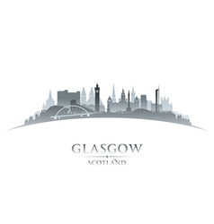 Glasgow scotland city skyline silhouette vector