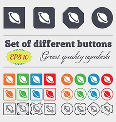 Jupiter planet icon sign big set of colorful vector