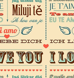 I love you in different languages vector