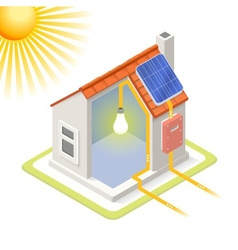 Energy Chain 03 Building Isometric vector image