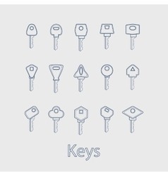Keys from the house vector