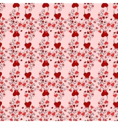 Vintage red heart background valentines day vector