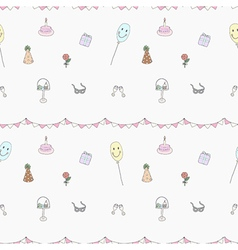 Seamless of birthday party elements vector