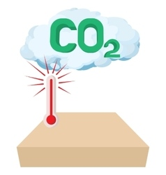 Co2 sign in a cloud icon cartoon style vector