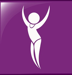 Sport icon for gymnastics floor exercise vector