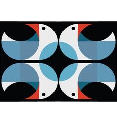 Abstract birds background vector