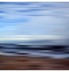 Abstract blurred unfocused bokeh sky and beach vector