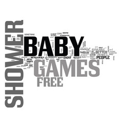 Baby shower games reasons not to use free games vector