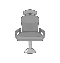 Barber chair icon black monochrome style vector