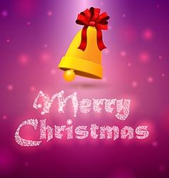 Bells merry christmas 2 vector image