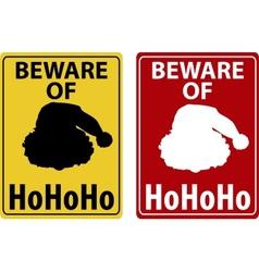 Beware of christmas icon vector