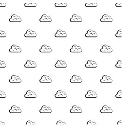Big cloud pattern vector