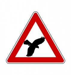 Bird swoop warning sign vector
