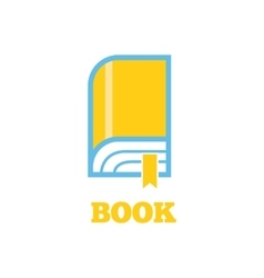 Book Logo Sign Design Flat vector image