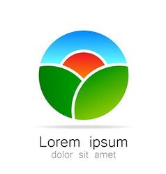 Ecological natural landscape logo template vector