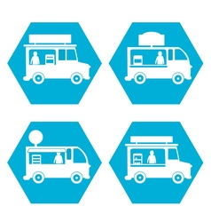 Fast food truck vector image vector image