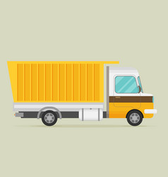 flat of truck vector image