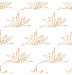 Hand drawn seamless floral pattern with flower vector image vector image