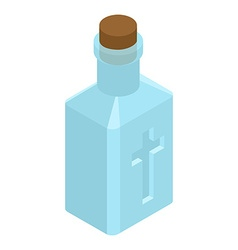 Holy water in bottle religious symbol magic liquid vector