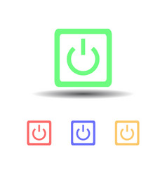 Icon four computer power button isolated on white vector